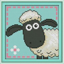 Báránykás keresztszemes hímző készlet