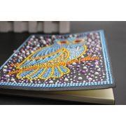 58 oldalas vonalas Baglyos jegyzetfüzet gyémántszemes kirakó