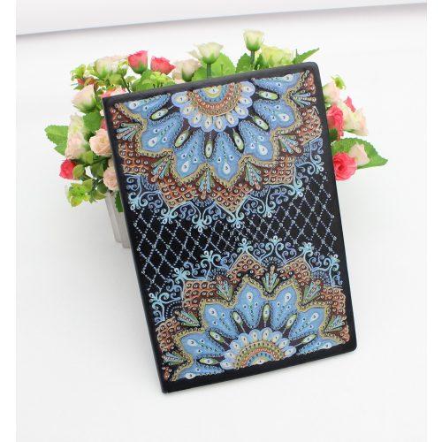 50 oldalas sima kék mintás gyémántszemes kirakó