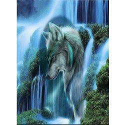 Farkas kör alakú kreatív gyémánt kirakó