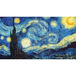 Van Gogh CSillagos éj Kör alakú Gyémántszemes kirakó 30x40