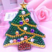 Karácsonyi gyémántszemes kirakó kulcstartók