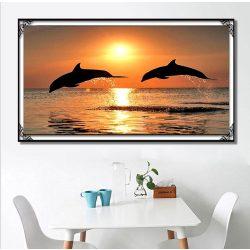 Delfin kör alakú kreatív gyémánt kirakó