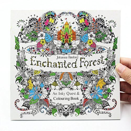 Elvarázsolt erdő felnőtt színező könyv