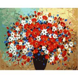 Mezei virágok négyzet alakú kreatív gyémánt kirakó