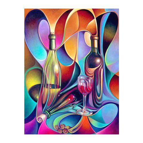 Üvegek Négyzet alakú Gyémántszemes kirakó 30x40