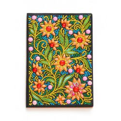 50 oldalas sima virág mintás gyémántszemes kirakó jegyzetfüzet