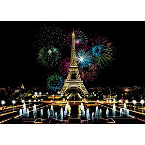 Tűzijáték Párizsban Karckép