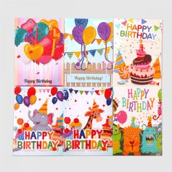 Happy Birthday Gyémántszemes kirakó képeslap