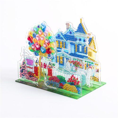 Mesebeli házikó gyémántszemes kirakó puzzle