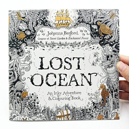 Johanna Basford Elveszett Óceán – Felnőtt színező könyv angol borítóval
