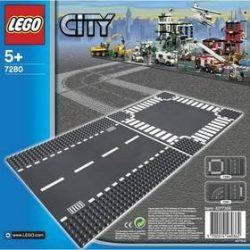 Egyenes útelem kereszteződéssel Lego City