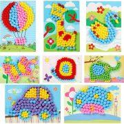 Kreatív Plüssgolyós kirakó gyerekeknek