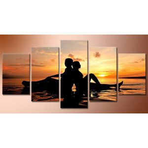 Romantika öt részes kreatív gyémántszemes kirakó készlet