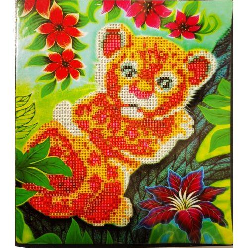 Kis tigris gyémántszemes kirakó gyermekeknek