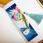 Lovas könyvjelzők gyémántszemes kirakó kreatív szett