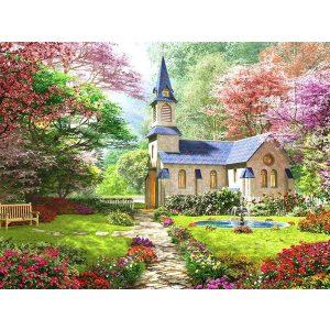 Templom Négyzet alakú Gyémántszemes kirakó 30x40