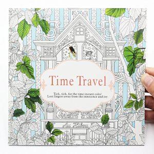 Időutazás felnőtt színező könyv