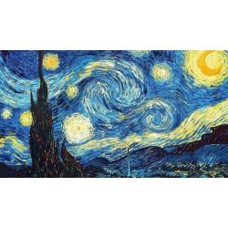 Van Gogh Csillagos Éj festés számok alapján kreatív készlet kerettel 40×50