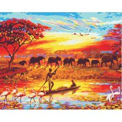 Afrika festés számok alapján kreatív készlet