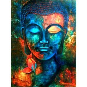 Buddha festés számok alapján kreatív készlet kerettel 40x50