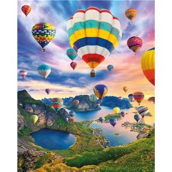 Hőlégballon festés számok alapján kreatív készlet kerettel 40x50