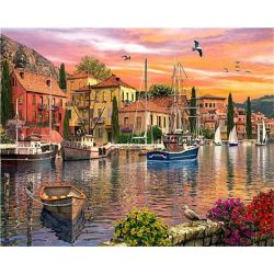 Kikötő festés számok alapján kreatív készlet kerettel 40x50