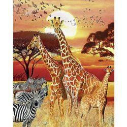 Zsiráfok festés számok alapján kreatív készlet keret nélkül 40x50