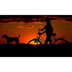 Bicajos a naplementében Kör alakú Gyémántszemes kirakó kerettel