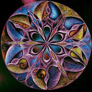 Mandala kör minta négyzet alakú kreatív gyémánt kirakó