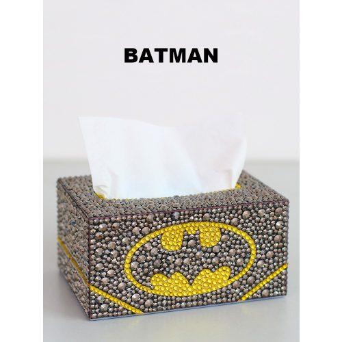 Batman zsebkendőtartó doboz gyémántszemes kirakó