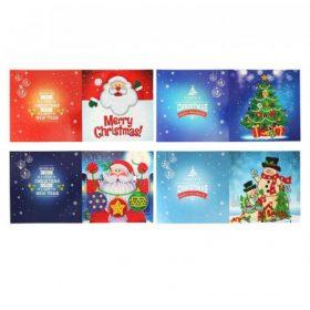 Karácsonyi képeslap gyémántszemes kirakók