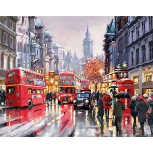 London festés számok alapján kreatív készlet kerettel