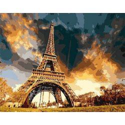 Eiffel Torony festés számok alapján kreatív készlet kerettel